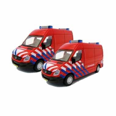 Set van 2x stuks modelautos brandweer nl mercedes benz sprinter 1:50