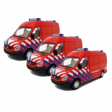 Set van 3x stuks modelautos brandweer nl mercedes benz sprinter 1:50
