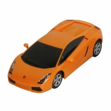 Speelgoed oranje lamborghini gallardo auto 16 cm