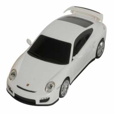 Speelgoed witte porsche 911 turbo auto 16 cm