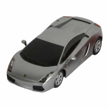 Speelgoed zilveren lamborghini gallardo auto 16 cm