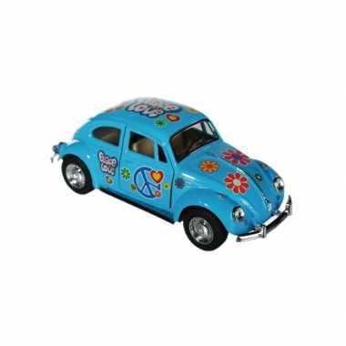 Vw kever modelauto blauw
