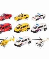 112 diensten wagens uitgebreide speelgoed set 10 delig die cast