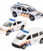 Politie wagens uitgebreide speelgoed set 4 delig die cast
